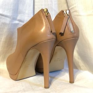 Nine West Nude Haywire Stiletto Booties